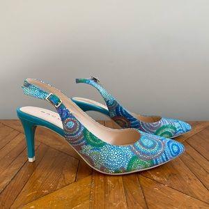 Sacha London Mosaic Slingbacks Size 7